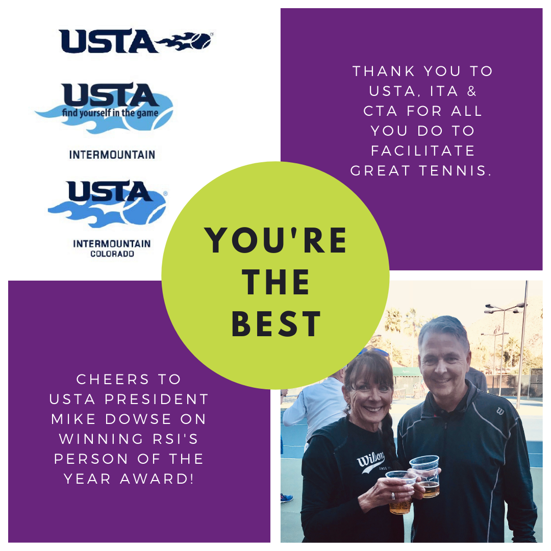 USTA, ITA, CTA & Mike Dowse: Thanks For All You Do!